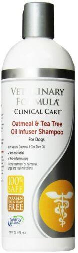 Veterinary Formula Clinical Care Oatmeal, Tea Tree Oil Infuser Dog Shampoo 16oz