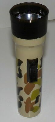 Vintage Classic Eveready Camo Camouflage Plastic Flashlight Made in USA