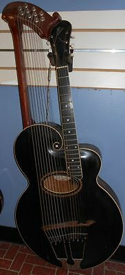 VINTAGE 1913 GIBSON STYLE U HARP ACOUSTIC ARCHTOP GUITAR RARE