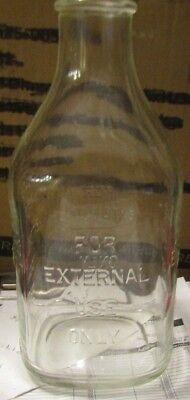 Vintage Beaker Chemist Lab Bottle For External Use Only No Marking Under It