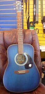 AUBAINE - Guitare acoustique ART et  LUTHERIE Famille GODIN usagée en bonne condition