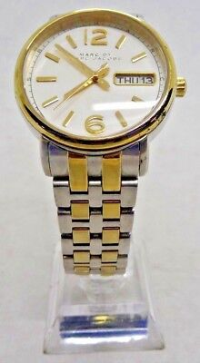 """Marc By Marc Jacobs MBM8652 Women's Two Tone Analog Watch Size 7"""" Used"""