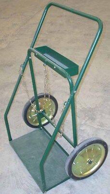 Oxygen Acetylene Large Welding Cylinder Tank Cart 14 Wheels 13 X 25 Platform