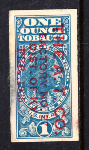ONE OUNCE TOBACCO REVENUE TAX STAMP THE A.T, CO. KENTUCKY  ACT OF 1926 H1268K