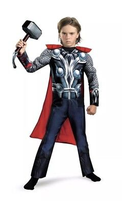 The Avengers Thor Costume Built-In Muscles Boy S(4-6) (Boys Thor Costume)