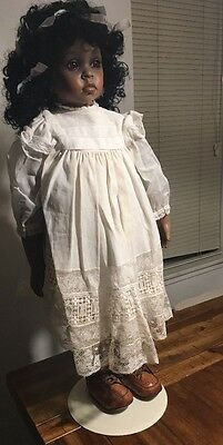 Handmade Numbered Sue Boothe Porcelain Doll With Antique Dress 29""