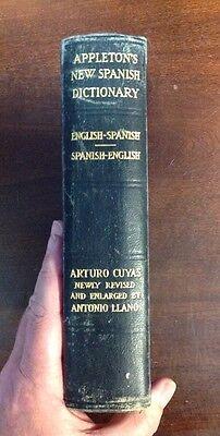 Appletons New Spanish Dictionary  1931 Hardback  Preownedbook Com