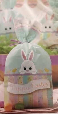 NWT Wilton Cellophane Happy Easter Party Treat Favor Bags 4