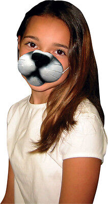 Premium Cat Nose Kitty Mask Rubber Latex Dress Up Elastic Childs Adult Halloween