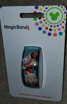 NEW Disney Parks Moana Pua Maui Hei Hei Magic Band 2 Teal Magic LINK IT LATER