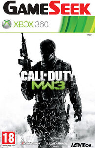 CALL OF DUTY MODERN WARFARE 3 for Xbox 360 (COD MW3) BRAND NEW - UK Seller PAL
