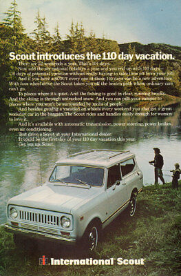 1966 Classic Car AD INTERNATIONAL SCOUT vacation to out of the way places 011918