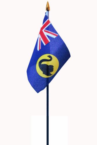 WESTERN AUSTRALIA flag PACK OF TEN SMALL HAND WAVING FLAGS PERTH AUSTRALIAN