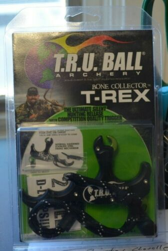 TRU BALL ARCHERY RELEASE 4-FINGER BONE COLLECTOR T-REX TTR4-BK NIB