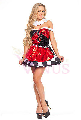 OP 8647 Ladies Costume Fancy Dress Circus Clown Jester Cosplay Size 6-10