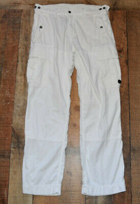 RARE Polo Ralph Lauren Cargo Off White Military Pants Men Vintage 34x32 EUC