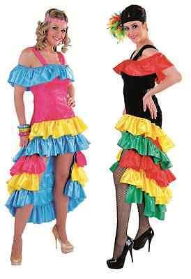 Flamenco Kostüm Kleid Party Spanierin Tanz Samba Spanier Brasilien Salsa Disco