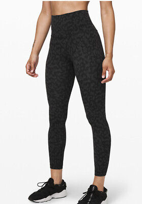 New With Tags Lululemon Align 25 Leggings Pant Camo Deep Coal Multi Size 6