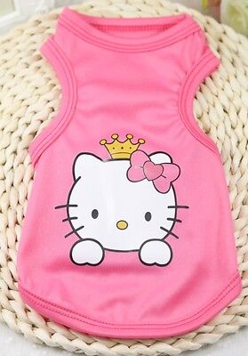 Dog /Cat shirt/vest Cartoon Princess Kitty Pink stylish clothing cute S/M/L/XL
