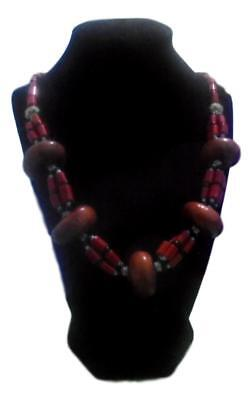 Handmade  African Berber Moroccan Coral Amber Necklace