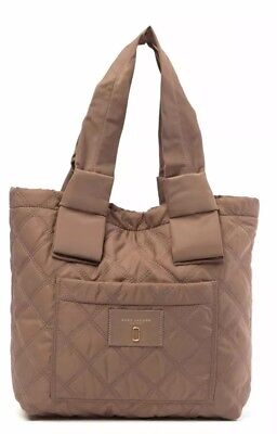 (NWT Marc Jacobs Diamond Quilted Small Tote Bag French Grey Retail $195 NEW)