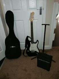 Electric guitar and multiple accessories for sale