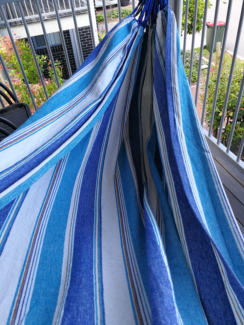 Double Hammock, blue and white