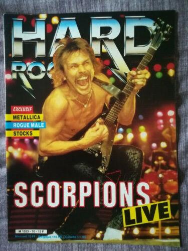 Scorpions cover metal magazine 1985 HARD ROCK 10 w/ Metallica Stocks Rogue Male