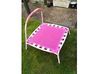 Childs Pink trampoline