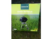Kettle Barbeque BBQ 43cm enamel with lid. Brand new in box, never opened.