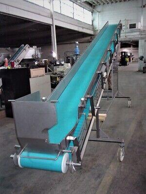Fpec 16 Inch Wide X 21 Ft Long Incline Stainless Steel Sanitary Belt Conveyor