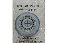 """Vauxhall Steel 14"""" . wheel inc tyre. Spare replacement."""
