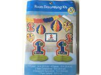 6x 1st Birthday decoration kit. 10 items per kit. New