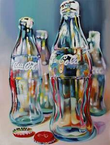 coka cola painting handpainted oil based ready to hang large Underwood Logan Area Preview