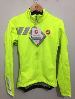 Castelli 2017 men squadra long jacket yellow fluo 4510504-032