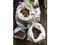 Small stones/pebbles/rubble decorative for gardens or foundations for building work