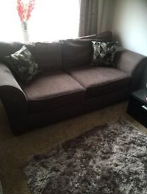Brown Two Seater Next Sofa