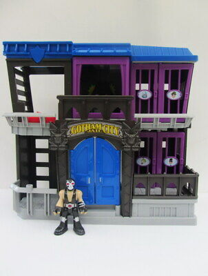 Imaginext DC SUPER FRIENDS Batman Gotham City Jail + BANE - 27cm Tall - 2012