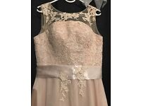 Champagne bridesmaid Dress Size 12
