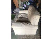 Cream leather Sofa - Free