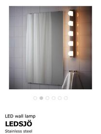 LED wall lamp LEDSJÖ Stainless steel (IKEA brand)
