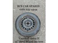 """Vauxhall Astra Steel. Spare wheel. 15""""."""