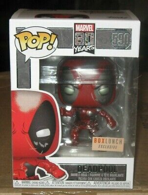 MARVEL 80 YEARS FUNKO POP BoxLunch Exclusive - Metallic Deadpool #590