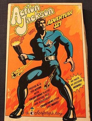 VINTAGE NOS COMPLETE MEGO 1970'S COLORFORMS ACTION JACKSON ADVENTURE SET UNUSED