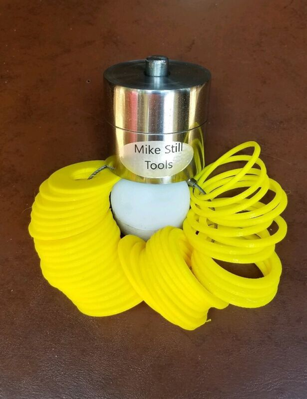 """1/2"""" COIN RING MAKING TOOLS CENTER PUNCH & 41 PLASTIC SPACERS"""