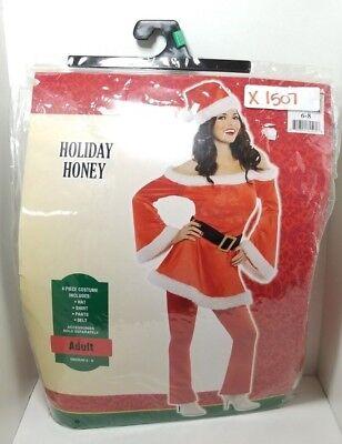 CHRISTMAS COSTUME WOMEN SANTA SUIT HOLIDAY HONEY ADULT Medium 6-8 - - Women Santa Suit