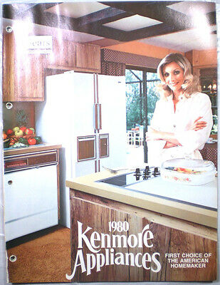 Vtg Sears Kenmore Appliances Catalog Retro Kitchen Range Oven Refrigerator 1980