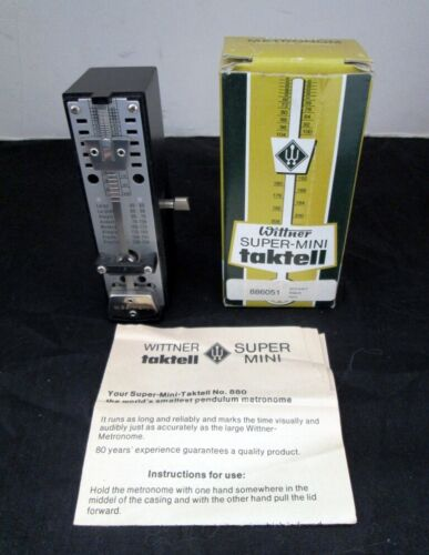 Wittner (Germany) Taktell Super Mini Metronome w/Original Box & Instructions