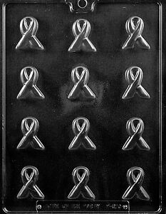 BS AWARENESS RIBBON Chocolate Candy Soap mold cancer lung heart