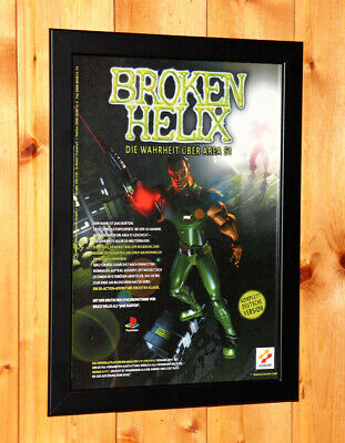 1997 Broken Helix Video game Small Poster / Vintage Ad Page Framed Playstation1